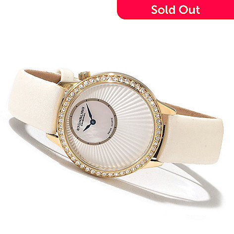 621-329 - Stührling Original Women's Radiant Strap Watch Made w/ Swarovski® Elements