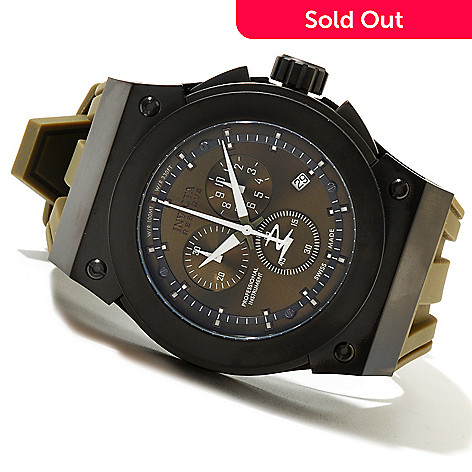 621-356 - Invicta Reserve Men's Akula Swiss Made Quartz Chronograph Stainless Steel Silicone Strap Watch