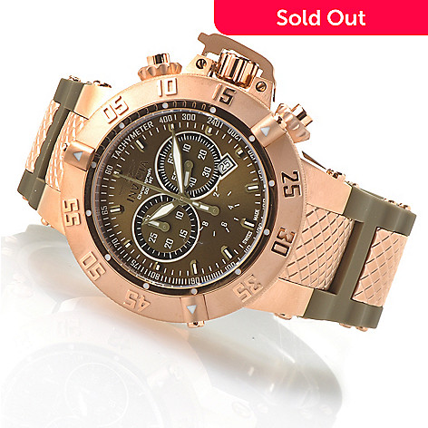 621-369 - Invicta 50mm Subaqua Noma III Swiss Made Quartz Chronograph Silicone Strap Watch
