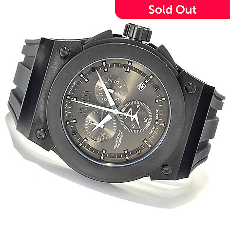 621-372 - Invicta Reserve Men's Akula Swiss Made Quartz Chronograph Stainless Steel Silicone Strap Watch