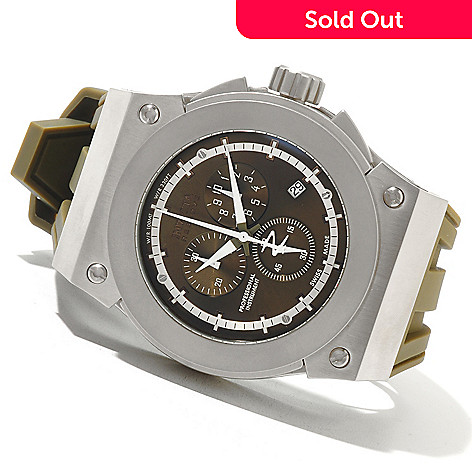 621-388 - Invicta Reserve Men's Akula Swiss Made Quartz Chronograph Stainless Steel Silicone Strap Watch