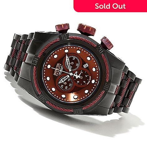 621-394 - Invicta Reserve 52mm Bolt Zeus Swiss Made Quartz Chronograph Stainless Steel Bracelet Watch