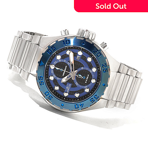621-402 - Invicta Men's Pro Diver Touring Quartz Chronograph Stainless Steel Bracelet Watch