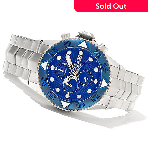 621-404 - Invicta 48mm Pro Diver Galaxy Quartz Chronograph Stainless Steel Bracelet Watch