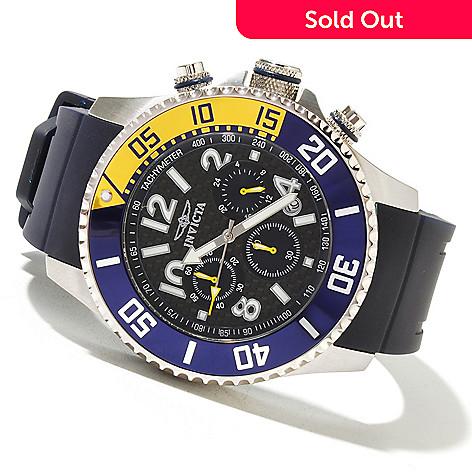 621-407 - Invicta 48mm Pro Diver Quartz Chronograph Carbon Fiber Dial Polyurethane Strap Watch