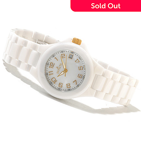 621-427 - Invicta Ceramics Women's Quartz Mother-of-Pearl Dial Bracelet Watch