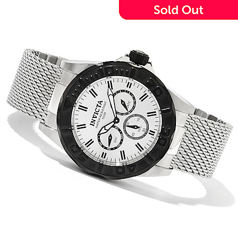 621-433 - Invicta Men's Pro Diver Swiss Quartz Mesh Stainless Steel Bracelet Watch