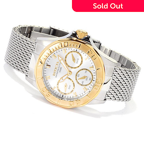 621-434 - Invicta Women's Pro Diver Quartz Mesh Stainless Steel Bracelet Watch
