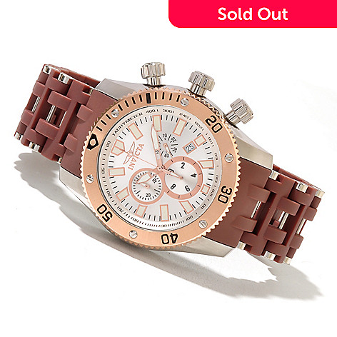 621-435 - Invicta Men's Sea Spider Quartz Chronograph Stainless Steel & Polyurethane Bracelet Watch