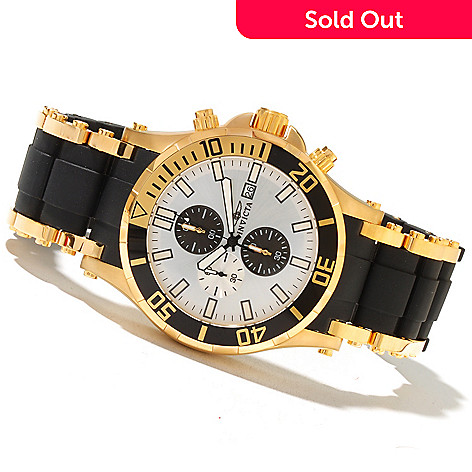 621-436 - Invicta Men's Sea Spider Quartz Chronograph Stainless Steel & Polyurethane Bracelet Watch