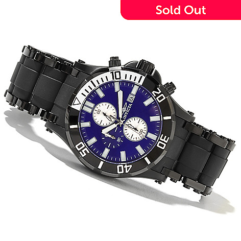 621-437 - Invicta Men's Sea Spider Quartz Chronograph Stainless Steel & Polyurethane Bracelet Watch