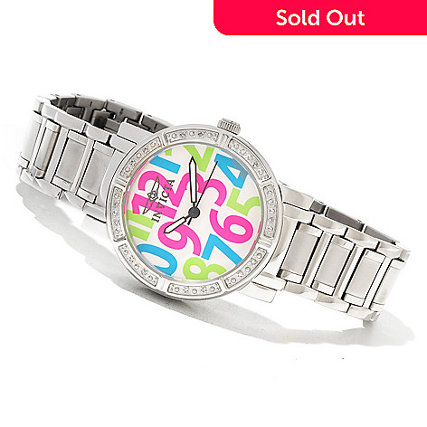 621-513 - Invicta Women's Classique Quartz Diamond Accented Stainless Steel Bracelet Watch w/ 3-Slot Box