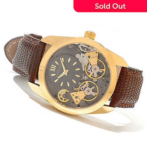 621-519 - Android Men's Impetus Double Escapement Automatic Lizard Strap Watch