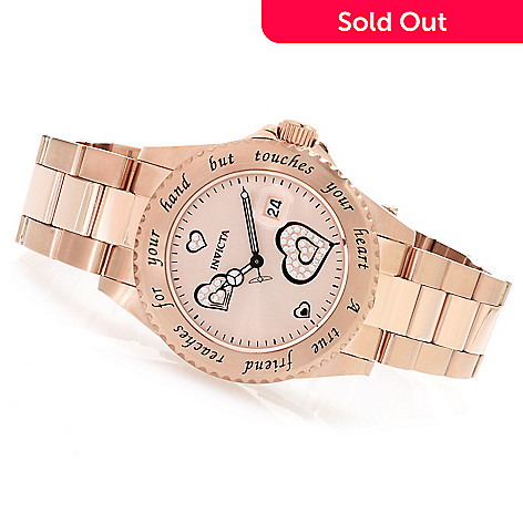 621-527 - Invicta Women's Angel Quartz ''True Friend'' Bracelet Watch w/ Travel Box