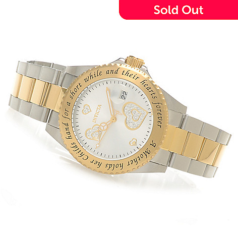 621-529 - Invicta Women's Angel Quartz ''Mother and Child'' Bracelet Watch w/ Travel Box