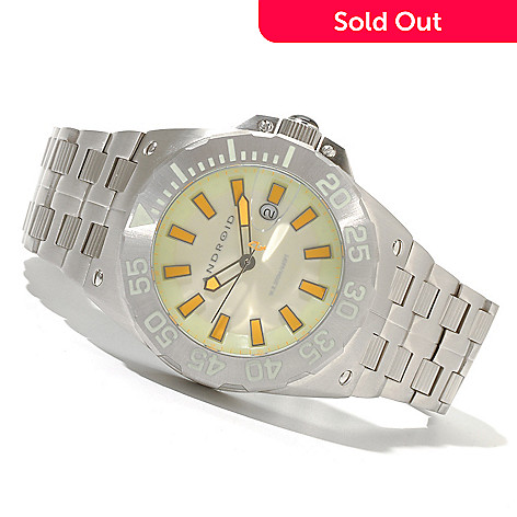 621-530 - Android Men's DM Predator Quartz Stainless Steel Bracelet Watch w/ Three-Slot Case