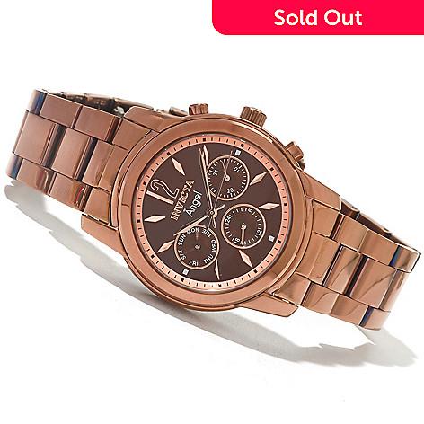 621-541 - Invicta Women's Angel Quartz Stainless Steel Bracelet Watch w/ Travel Box