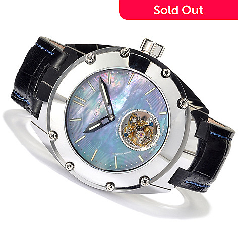 621-545 - Android Men's Virtuoso Tungsten T100 Limited Edition Automatic Flying Tourbillon Leather Strap Watch