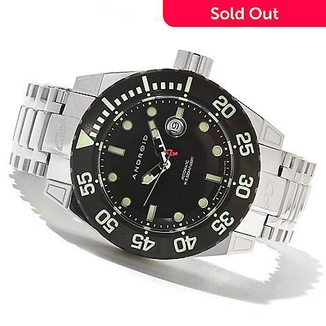 621-546 - Android Men's Silverjet 3G Automatic Stainless Steel Bracelet Watch