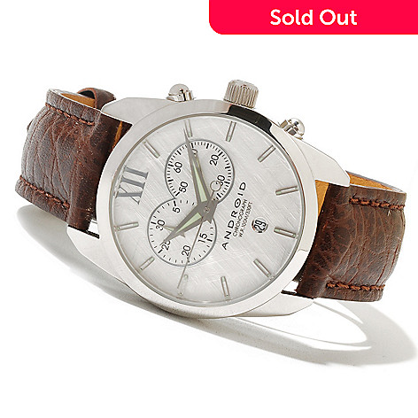 621-550 - Android Men's Impetus 4 Quartz Chronograph Leather Strap Watch