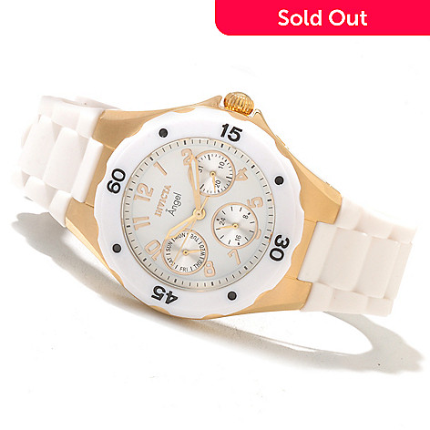 621-583 - Invicta Women's Angel Jellyfish Quartz Stainless Steel Silicone Strap Watch