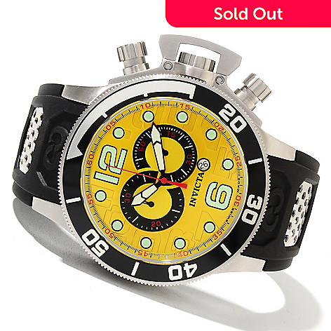 621-632 - Invicta Men's Corduba Swiss Made Quartz Chronograph Stainless Steel Polyurethane Strap Watch