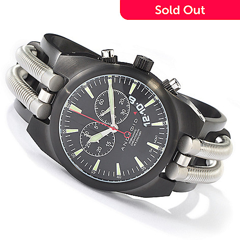 621-642 - Android Men's Hydraumatic Chronograph Black Ionic Plated Stainless Steel Watch