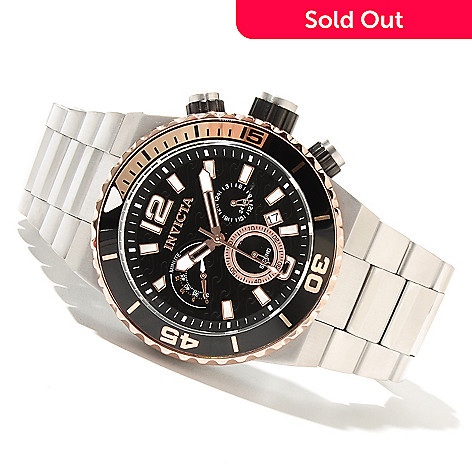 621-644 - Invicta Men's Pro Diver Ocean Master Quartz Chronograph Stainless Steel Bracelet Watch