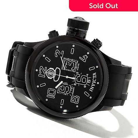 621-651 - Invicta Men's Russian Diver Quartz Chronograph Stainless Steel Polyurethane Strap Watch