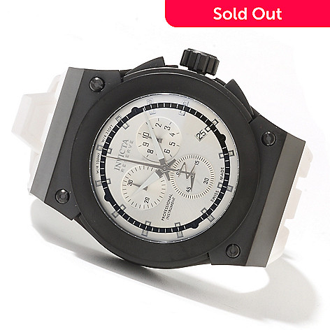 621-654 - Invicta Reserve Men's Akula Swiss Made Quartz Chronograph Stainless Steel Silicone Strap Watch