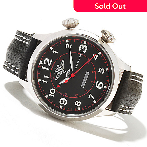 621-669 - Moscow Classic Men's Aeronavigator Limited Edition Mechanical Leather Strap Watch