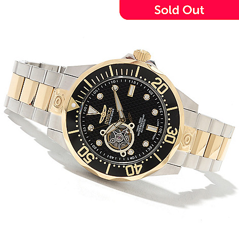 621-674 - Invicta Grand Diver Automatic Open Heart Stainless Steel Bracelet Watch