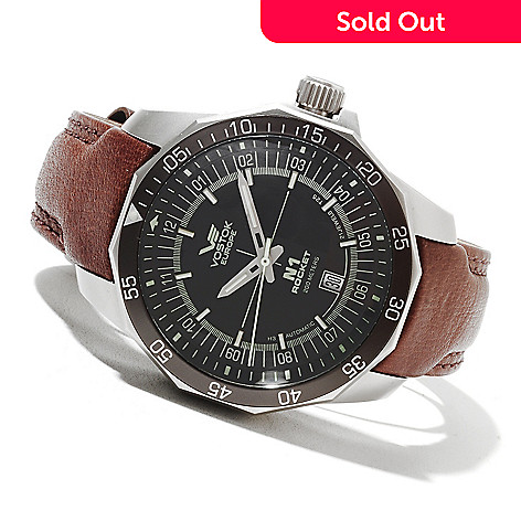 621-677 - Vostok-Europe Men's N1 Rocket Limited Edition Automatic Leather Strap Watch