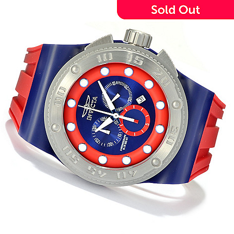 621-684 - Invicta Men's Akula Sport Quartz Chronograph Stainless Steel Case Silicone Strap Watch