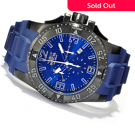 621-685 - Invicta Men's Excursion Quartz Chronograph Stainless Steel Case Polyurethane Strap Watch
