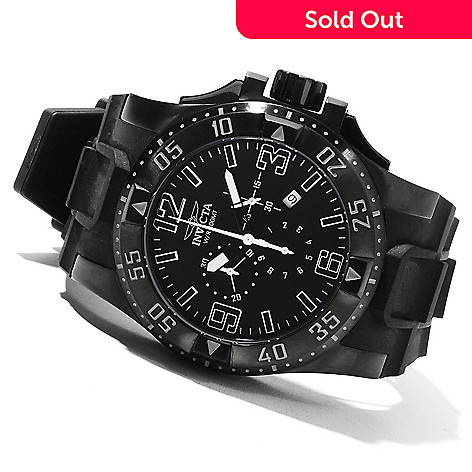 621-686 - Invicta Men's Excursion Quartz Chronograph Stainless Steel Case Polyurethane Strap Watch