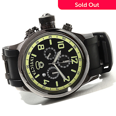 621-688 - Invicta 48mm Russian Diver Quartz Chronograph Stainless Steel Polyurethane Strap Watch