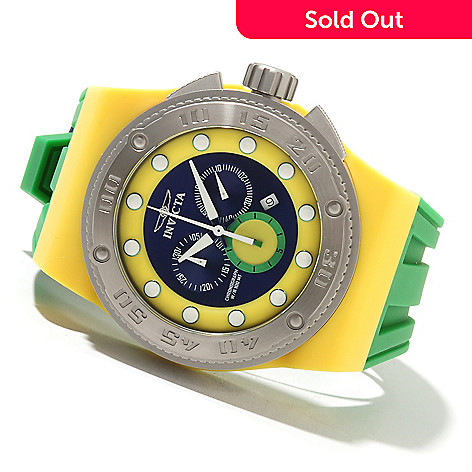 621-690 - Invicta 52mm Akula Sport Quartz Chronograph Stainless Steel Case Silicone Strap Watch