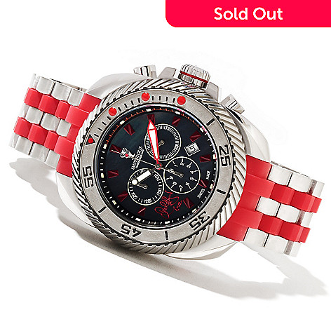621-692 - Imperious Men's Gearhead ''Signed'' Swiss Quartz Chronograph Mother-of-Pearl Dial Bracelet Watch