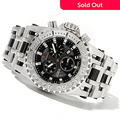 621-693 - Imperious 50mm Chaos Swiss Made Quartz Chronograph Stainless Steel Bracelet Watch