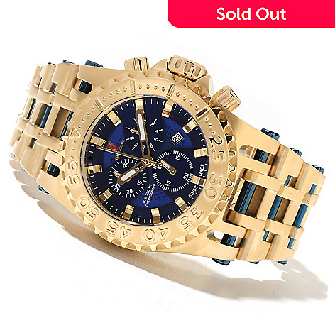 621-694 - Imperious 50mm Chaos Swiss Made Quartz Chronograph Stainless Steel Bracelet Watch