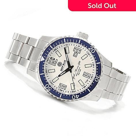 621-700 - Deep Blue 45mm Alpha Marine 500 Swiss Automatic Lume Dial Stainless Steel Bracelet Watch