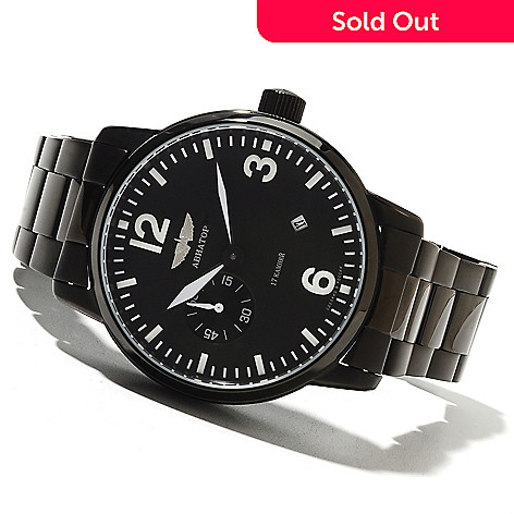 621-706 - Aviator Men's Russian Legends Military Limited Edition Mechanical Bracelet Watch