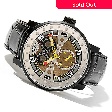 621-715 - GV2 by Gevril Men's Powerball Limited Edition Swiss Made Quartz Strap Watch