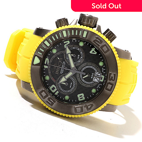 621-721 - Invicta 50mm Sea Hunter Swiss Made Quartz Chronograph Stainless Steel Polyurethane Strap Watch