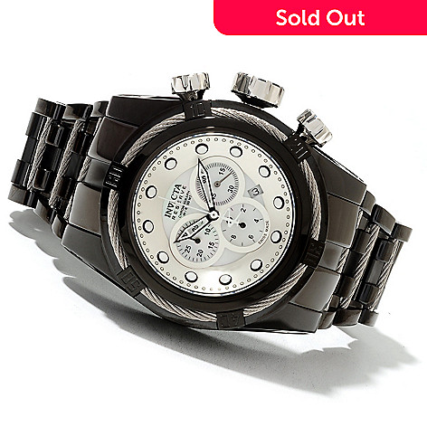 621-725 - Invicta Reserve 52mm Bolt Zeus Swiss Made Quartz Chronograph Stainless Steel Bracelet Watch