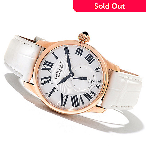 621-746 - Louis Erard Women's Emotion Swiss Made Automatic 18K Rose Gold Alligator Strap Watch
