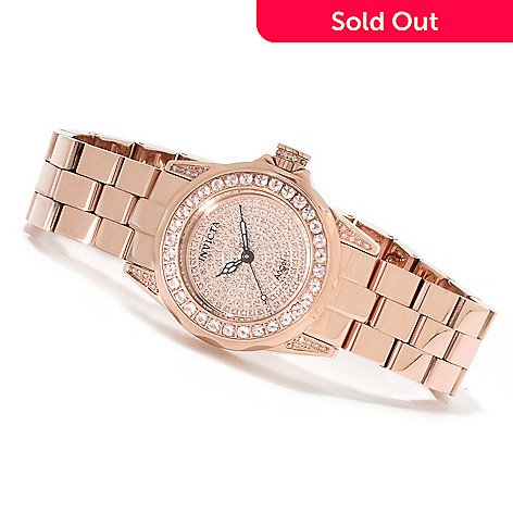 621-752 - Invicta Women's Angel 1.02ctw Morganite & 0.62ctw Diamond Pave Bracelet Watch w/ Travel Box