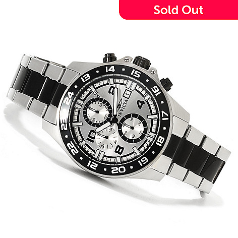 621-754 - Invicta Men's Pro Diver Specialty Quartz Chronograph Bracelet Watch w/ Eight-Slot Dive Case