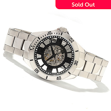 621-773 - Stührling Original Neo Winchester Men's Automatic Skeletonized Stainless Steel Bracelet Watch